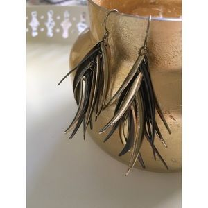 Jewelry - 3 for $25 - Silver and Gold Metal Feather Earrings